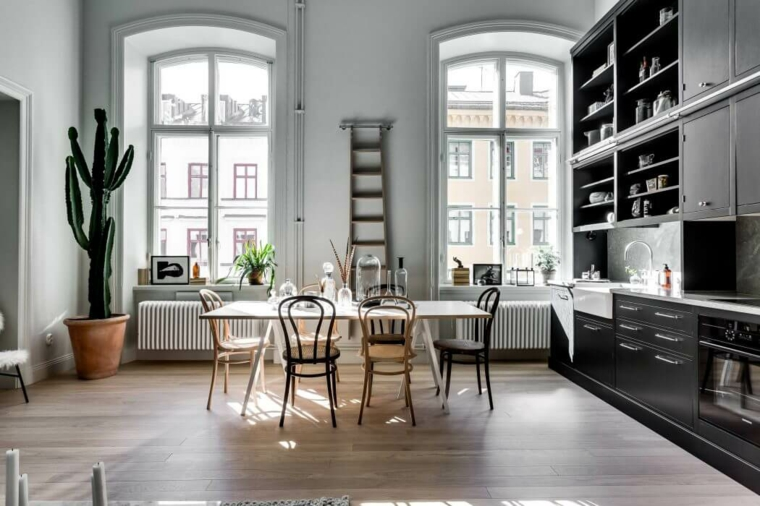 Décoration nordique appartement design salle à manger Alexander White idées