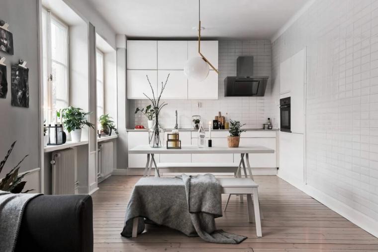 Scandinavian-Homes-cuisine-salle à manger