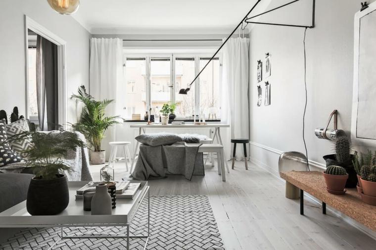 salon salle a manger design scandinave idées de maisons scandinaves