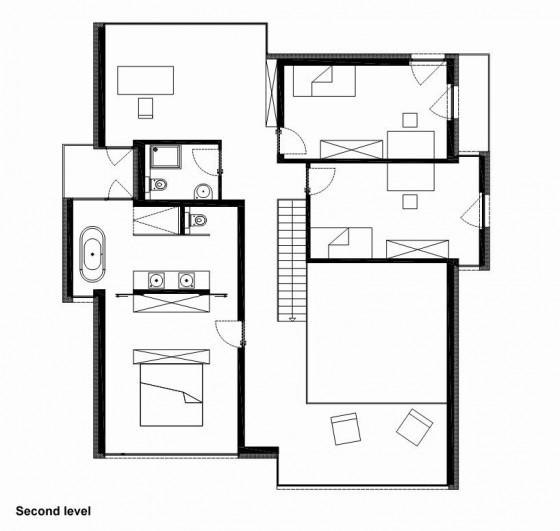 Plan de maison à deux étages - Deuxième étage