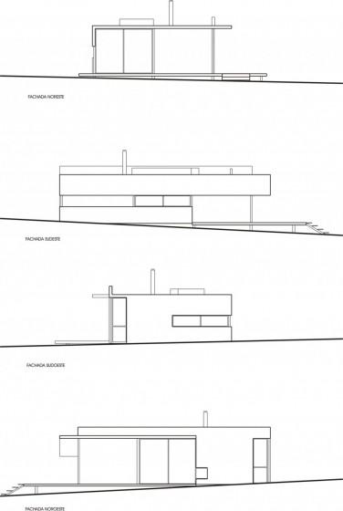 Plans d'élévation de maison de campagne