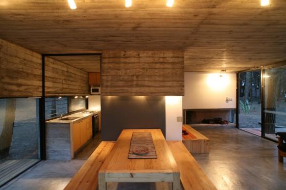 Conception de salle à manger cuisine maison de campagne