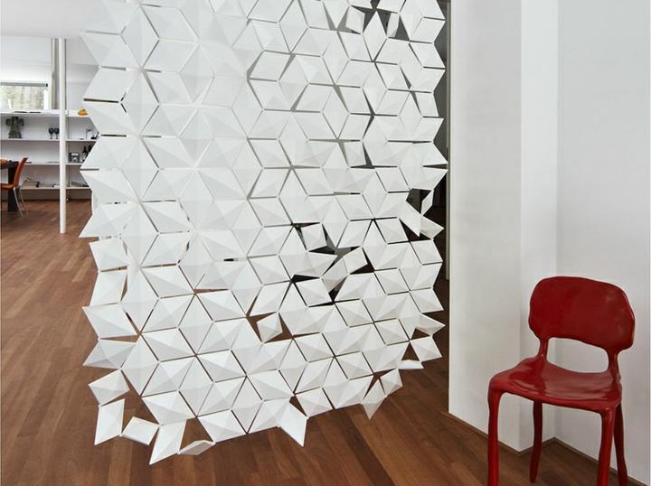 cloisons géométriques sortinas rouge