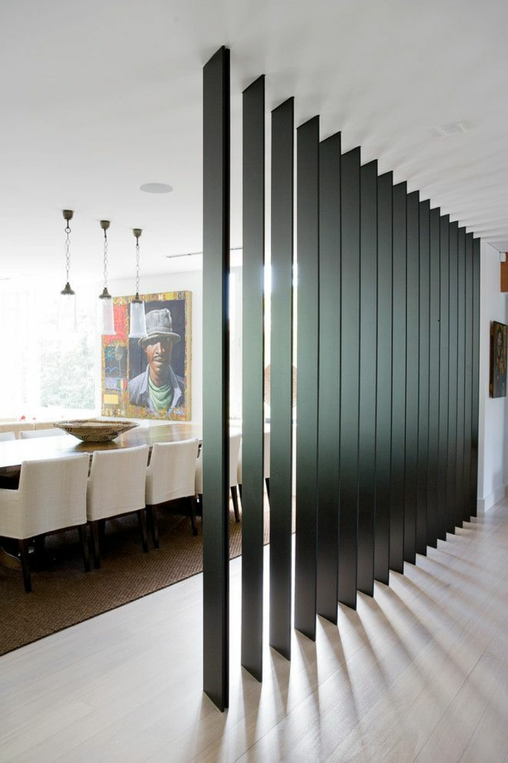cloisons de séparation en acier coloré pour salles à manger