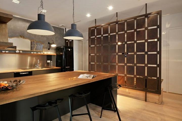 lignes de meubles separadpres en acier spécial