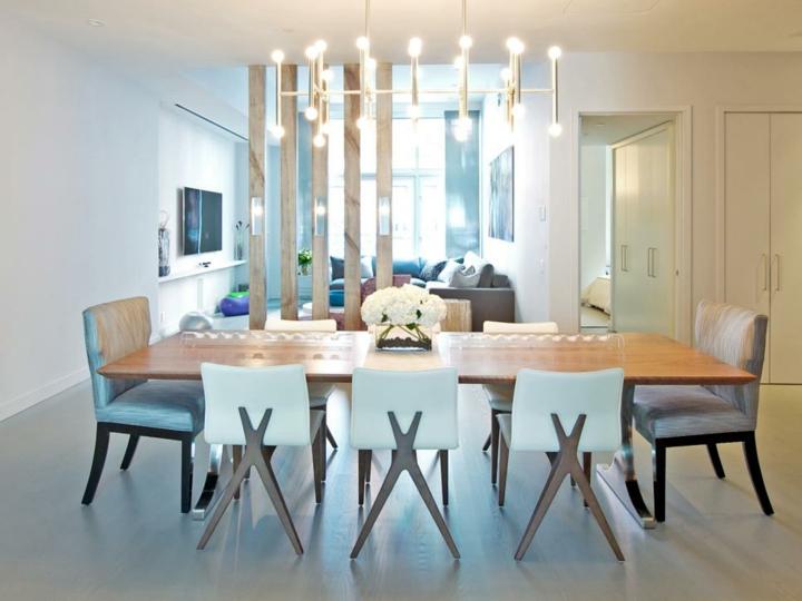 salles à manger en bois lumières maisons incorporées