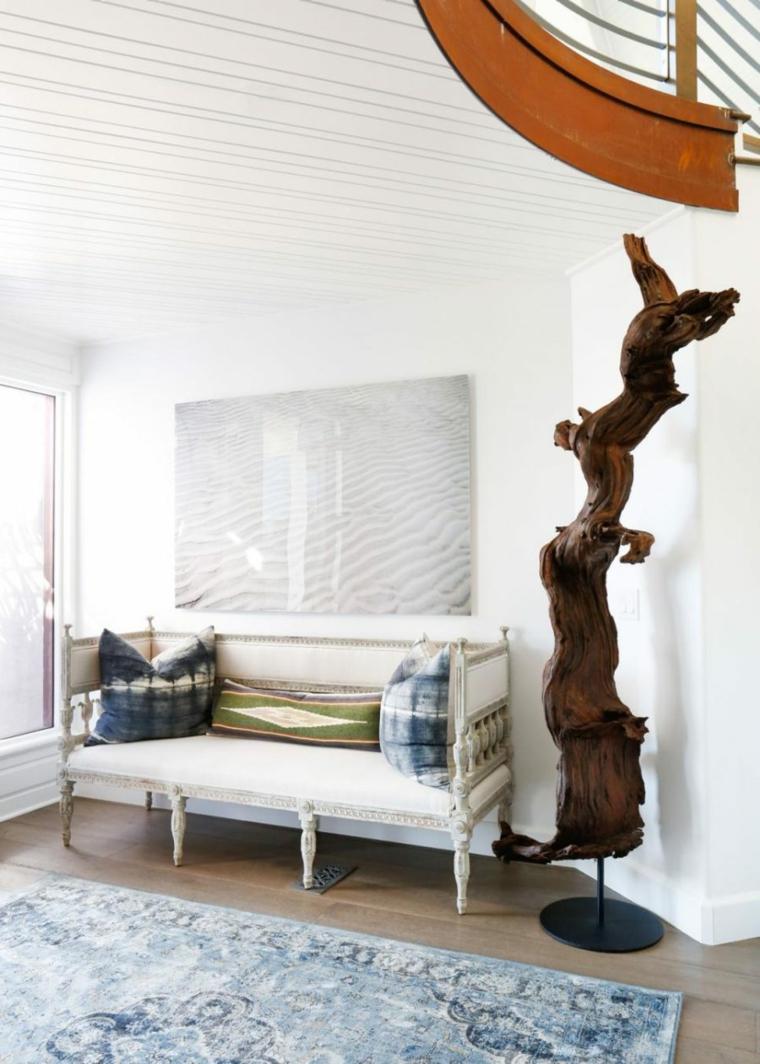 banc en bois de style rustique