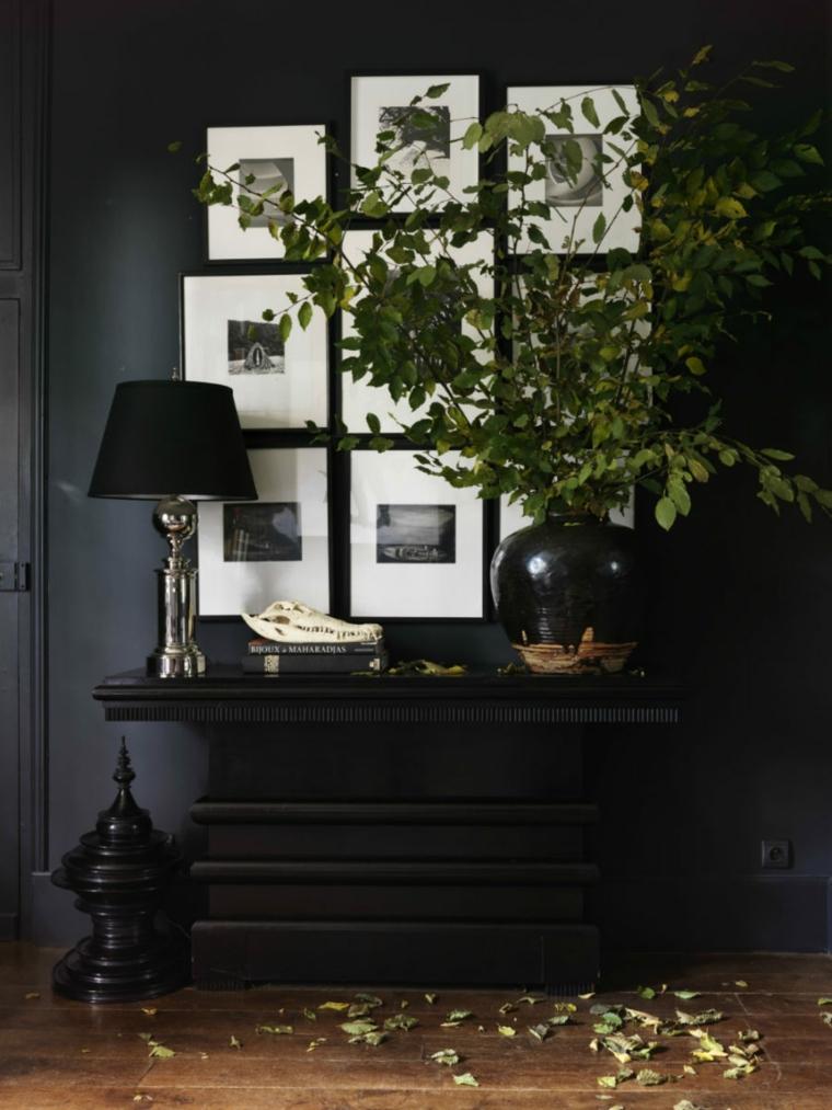 décoration de couloir noir
