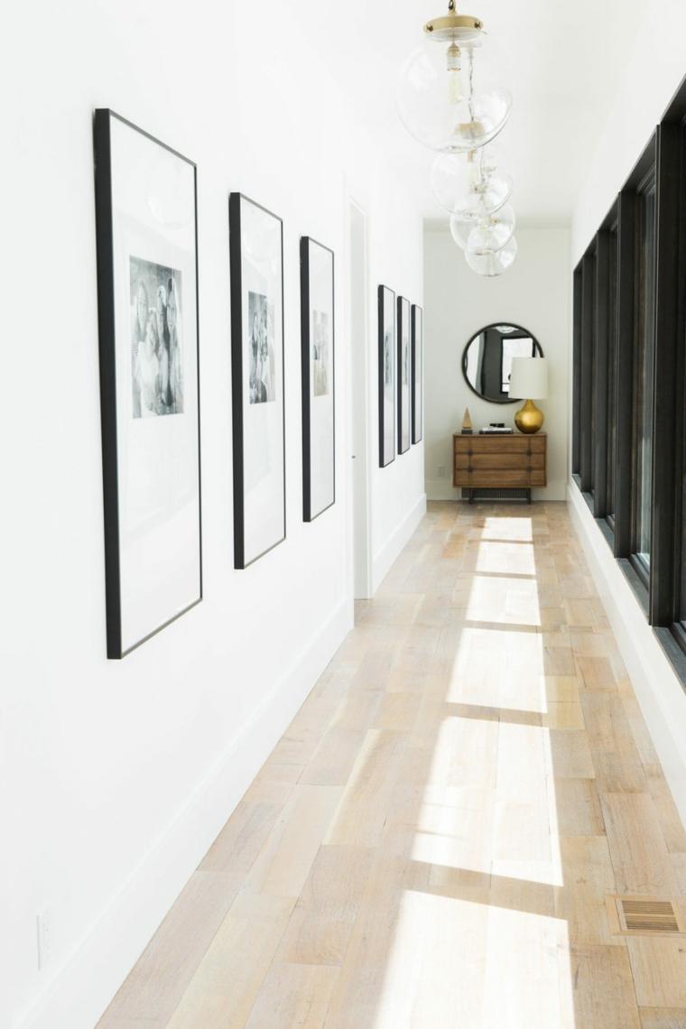 décoration couloirs photos cadres