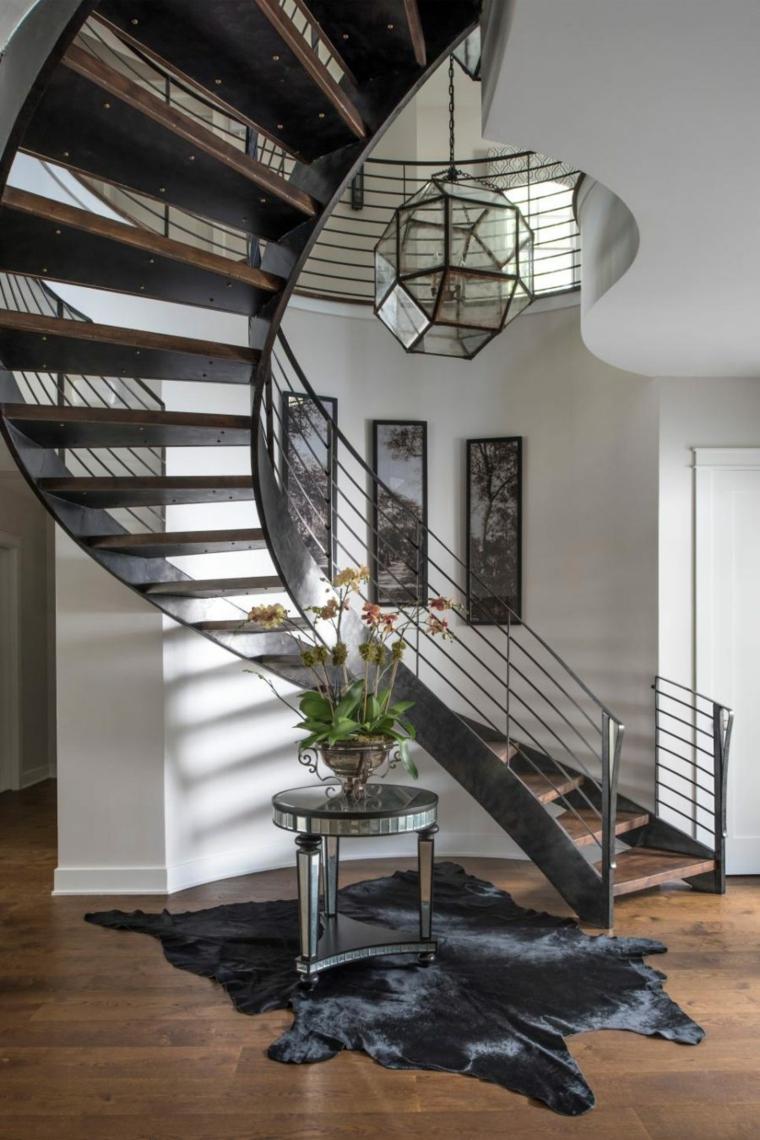 conception de couloir d'escalier en colimaçon