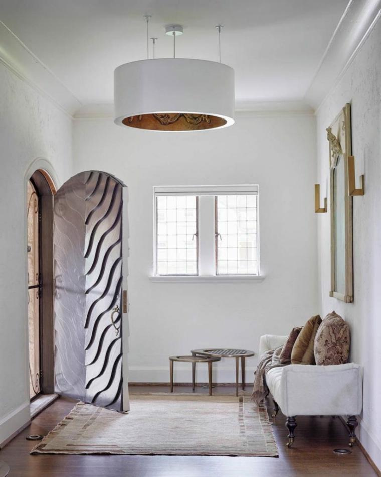 conception de couloir de style rustique moderne