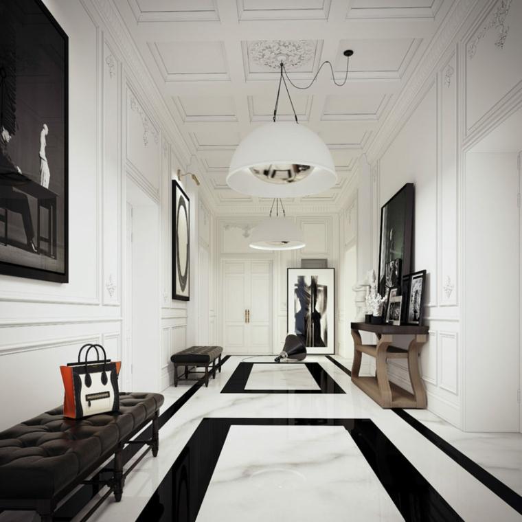 style luxueux de marbre design couloir