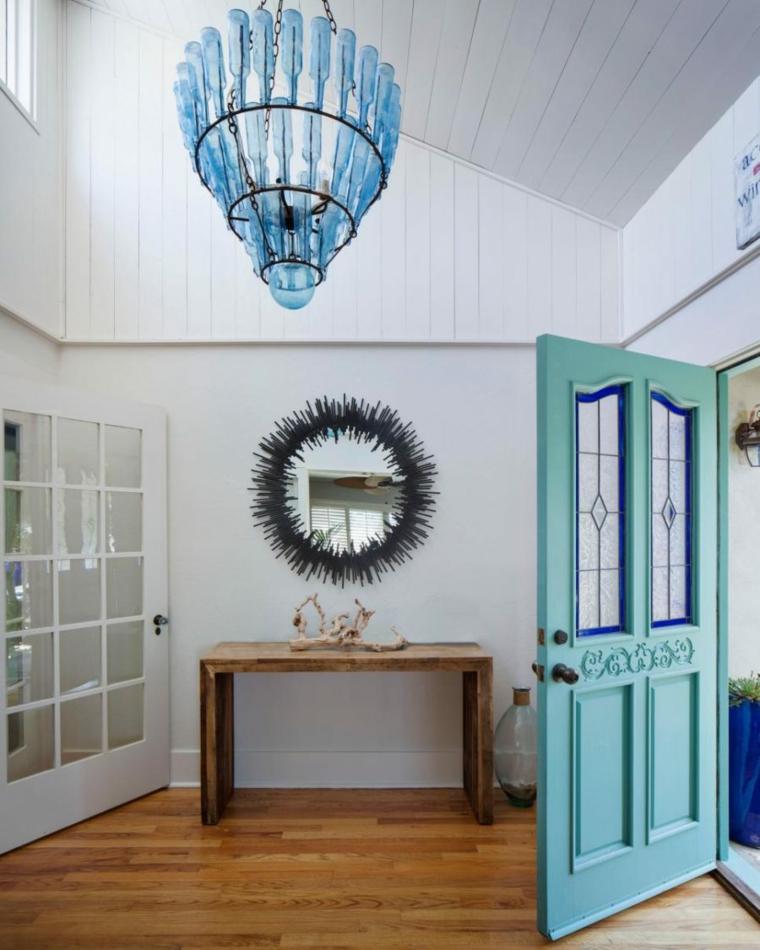couleur de la porte d'entrée du couloir bleu