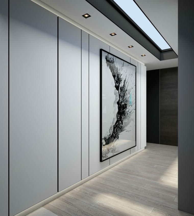 oeuvre de style minimaliste de couloir