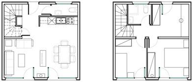 Très petits plans de maison à deux étages 01