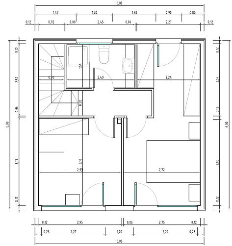 Très petits plans de maison de deux étages, deux chambres