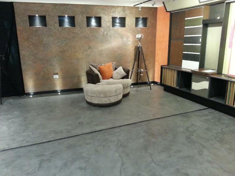 planchers de béton ciré salons