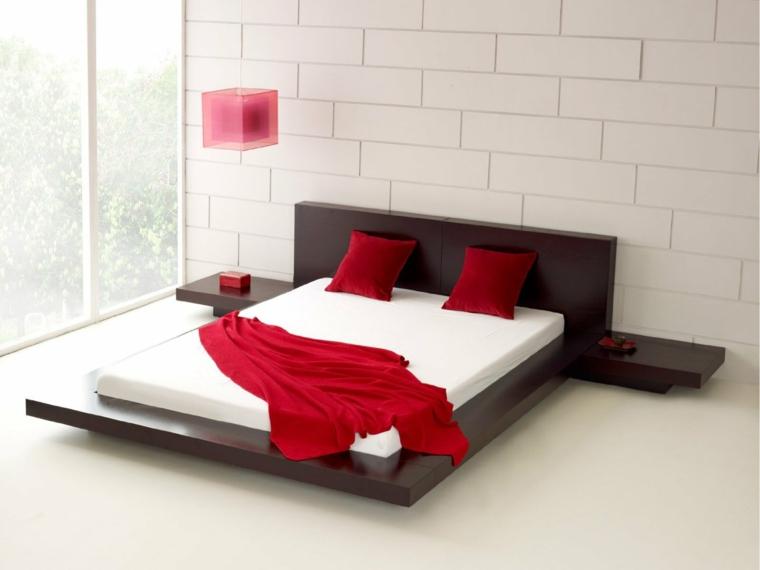 décoration de chambre à coucher lits japonais