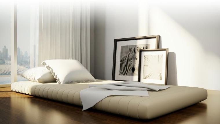 lits japonais décorent la chambre