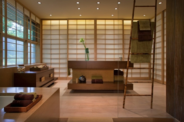 décoration d'escalier en panneaux japonais spéciaux