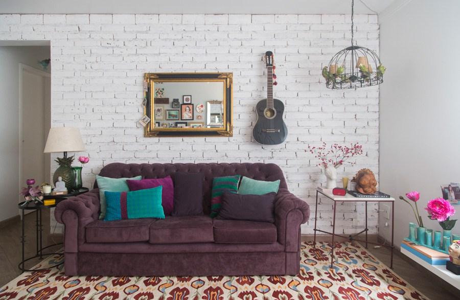 3 espaces de vie bohème violet