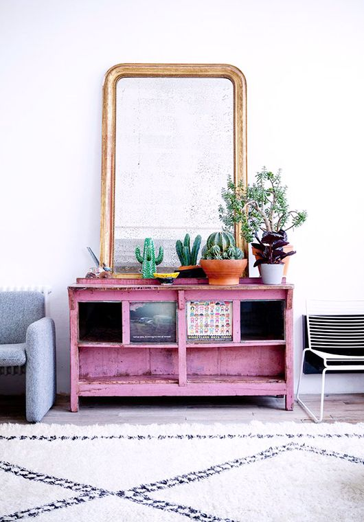 Vignette de 23 cactus en or rose