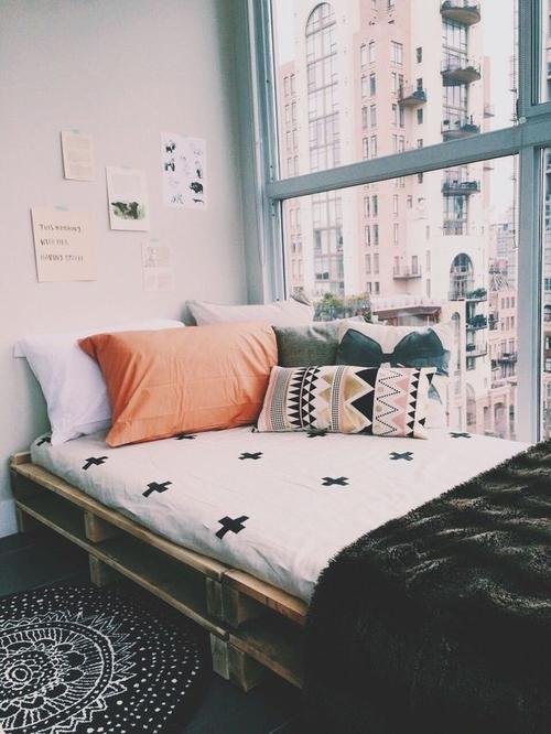 24 Boho dortoir graphique noir et blanc