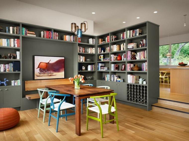 armoire de bibliothèque de séparation de pièce