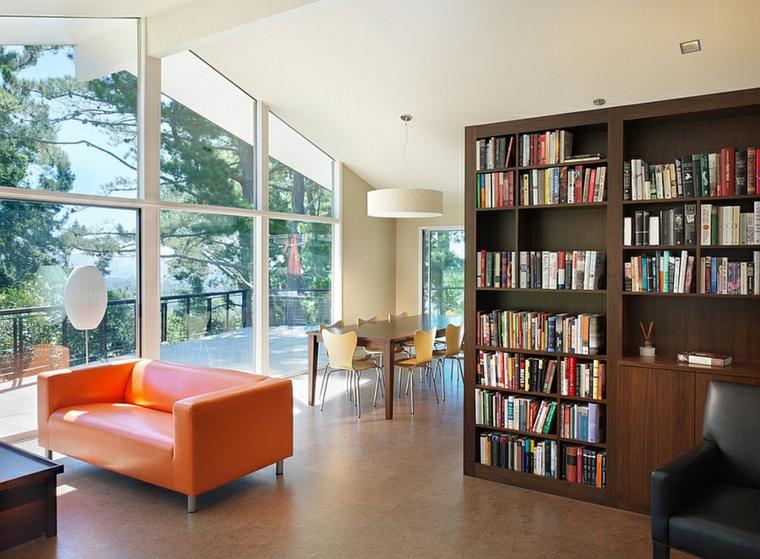 bibliothèque de séparation de pièce moderne