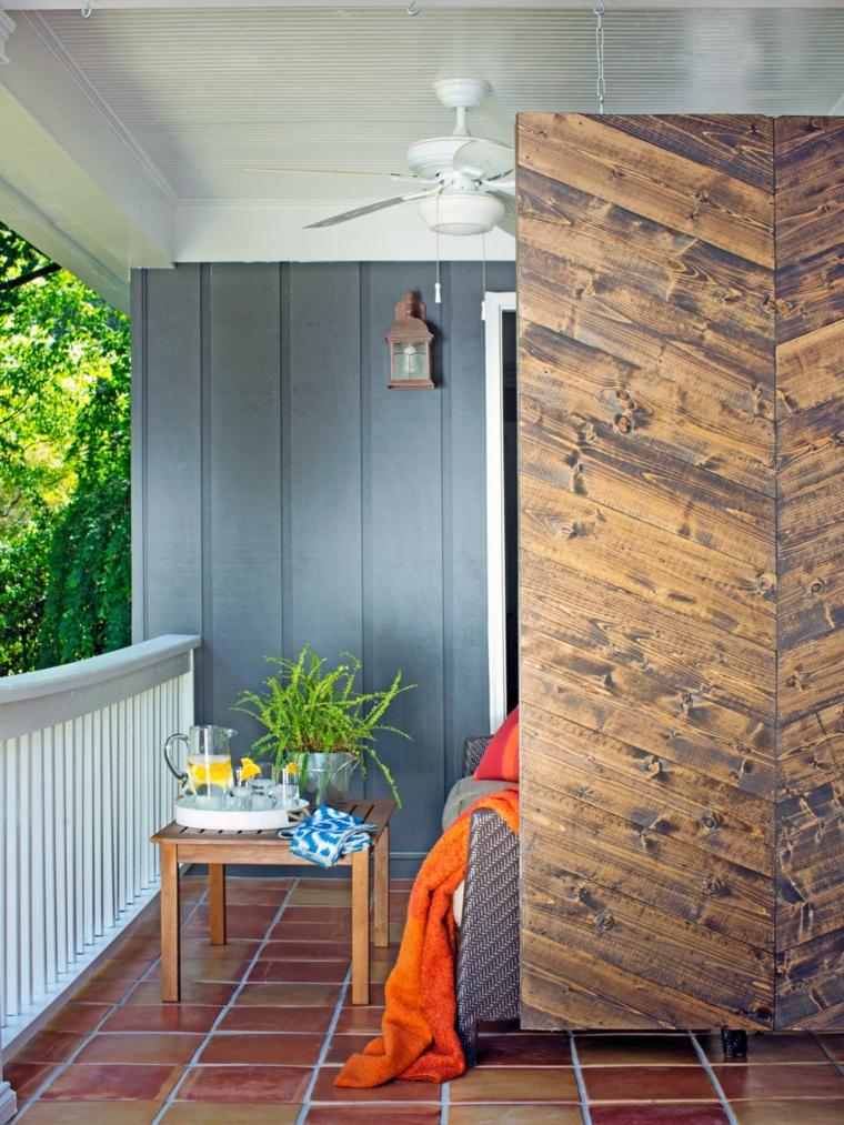 séparateur de terrasse en bois design original