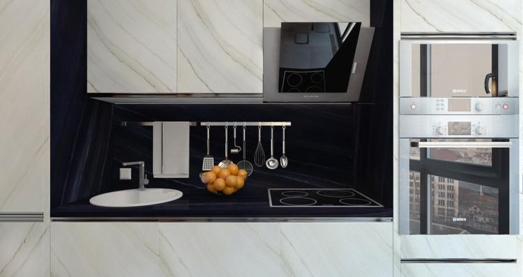appartements espace spécial pots meubles noir