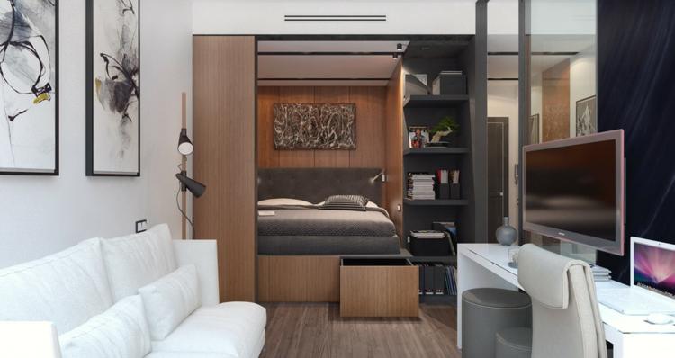 appartements espace canapé études lampes