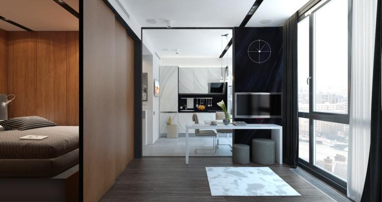 appartements séparateurs d'espace tapis lignes