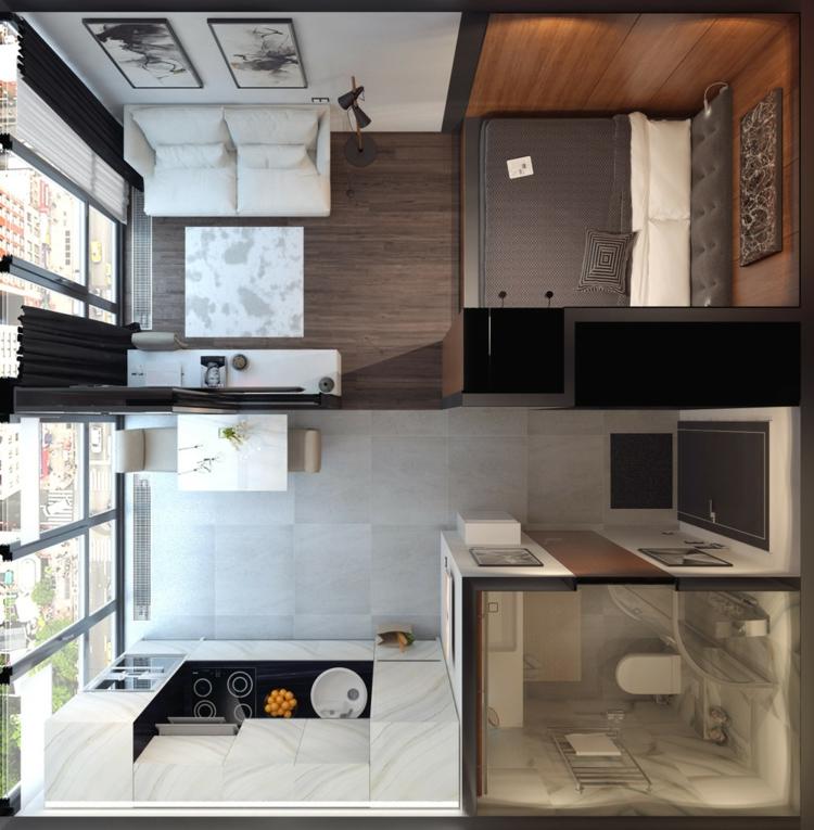 appartements distribution de l'espace maisons peintures