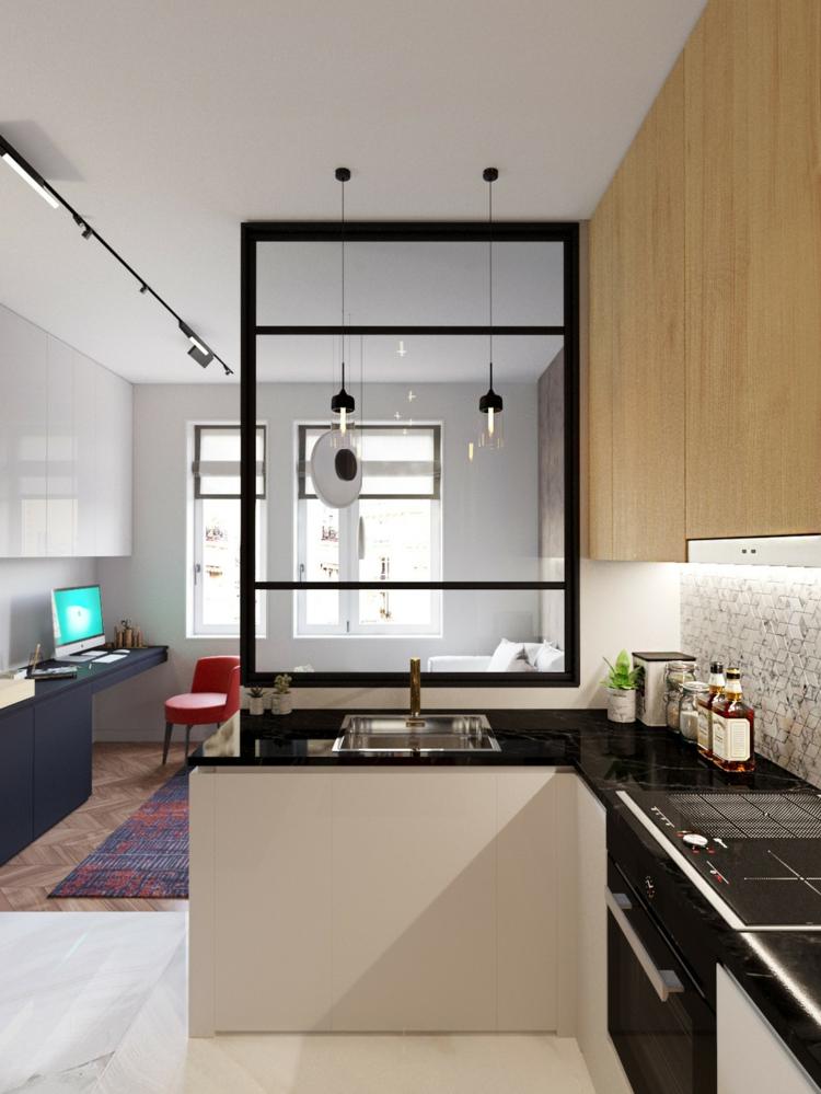 côtés cuisines styles meubles diviseurs