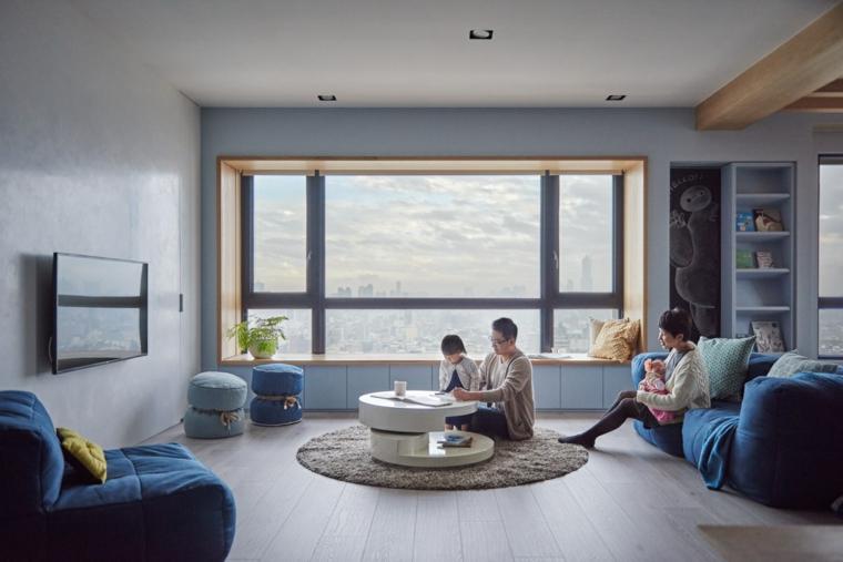 conception de salon appartement moderne