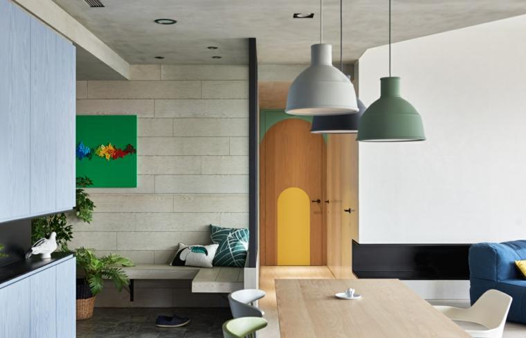 Lampes suspendues d'appartement de salle à manger
