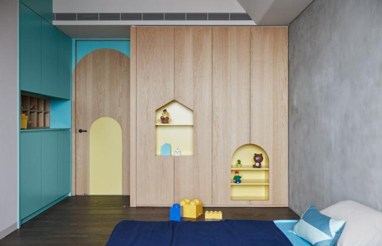 belle chambre d'enfants de meubles modernes