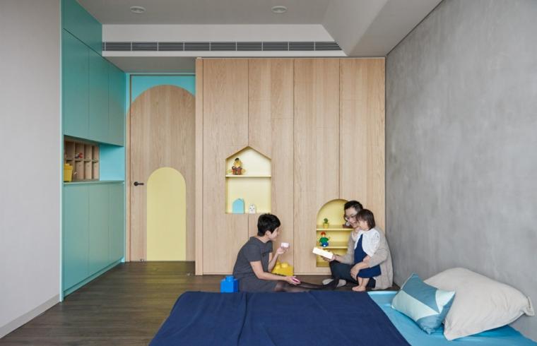 conception moderne de la chambre des enfants