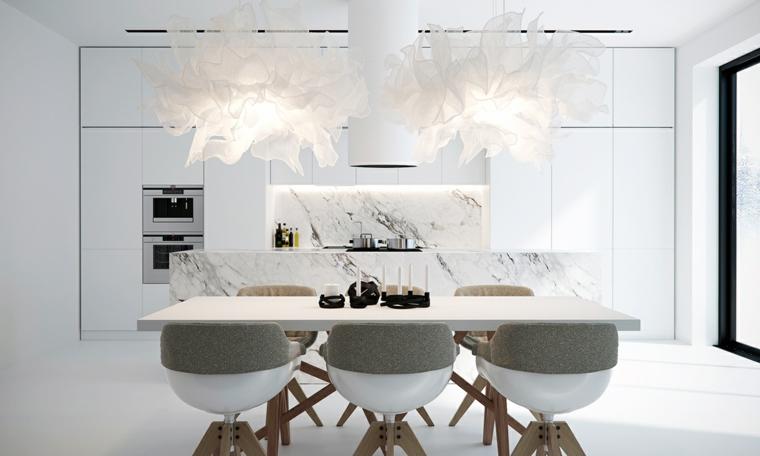 Fauteuils design de couleur blanche ponts intérieurs