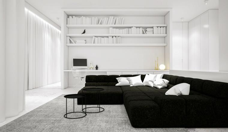 étagères de livres de tapis de conception de couleur blanche