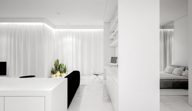 Lignes de stations de meubles design de couleur blanche
