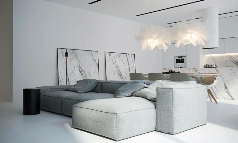 conception latérale minimaliste spéciale de couleur blanche