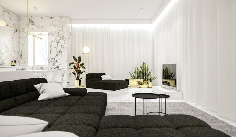 chaises design de couleur blanche meubles de table basse