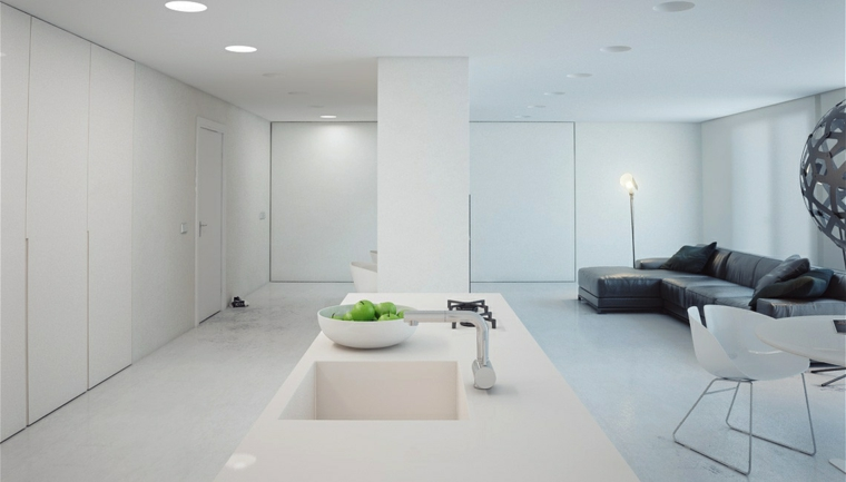 espaces aux accents verts minimalistes cebtro