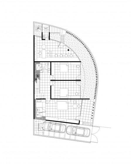 Plan de maison avec trois chambres