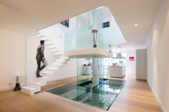 Design d'intérieur de maison ultra moderne, utilisation de cristaux