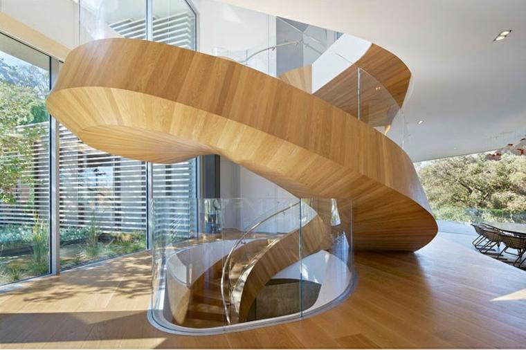 escaliers en colimaçon lumineux intérieurs matériels