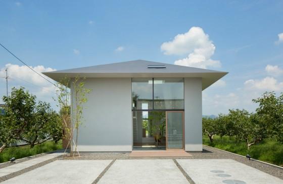 Façade de maison de style japonais moderne