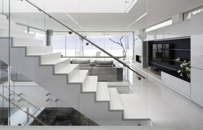 balustrades en aluminium cristaux styles modernes